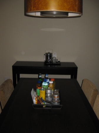 Westin Verasa Napa Room 2013 dining table