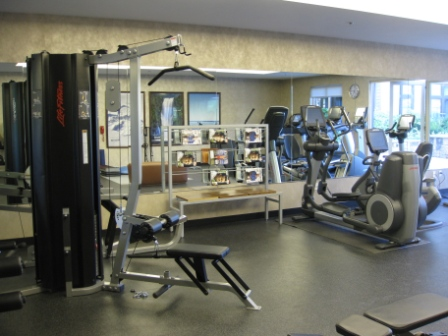 Westin Verasa Napa fitness center is located on main floor to side of lobby