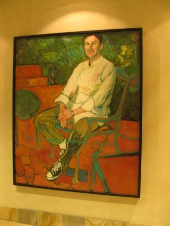 Westin Verasa Napa Artwork in hallway to La Toque