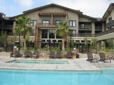 Westin Verasa Napa pool courtyard
