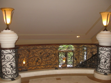 Stairway from lobby level to Motif