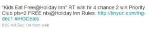December Tweet Away 50,000 points giveaway ReTweet from December 1