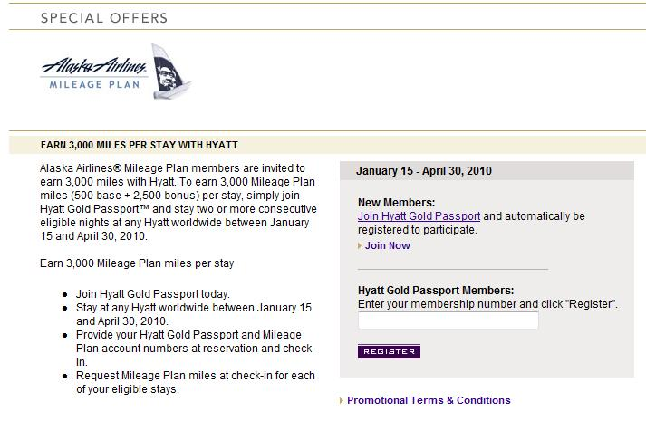 Hyatt Gold Passport Alaska Airlines offer
