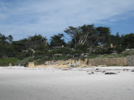 Carmel Beach walls and rock revetment (February 2009)