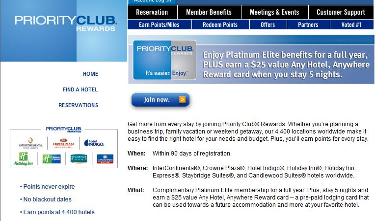IHG Rewards Club Dining - Earn IHG Rewards Club points for dining. No coupons or certificates. Simply register your debit and credit cards and dine at participating locations when rewards are offered. You can earn rewards for pick up and delivery too, see website for complete details.