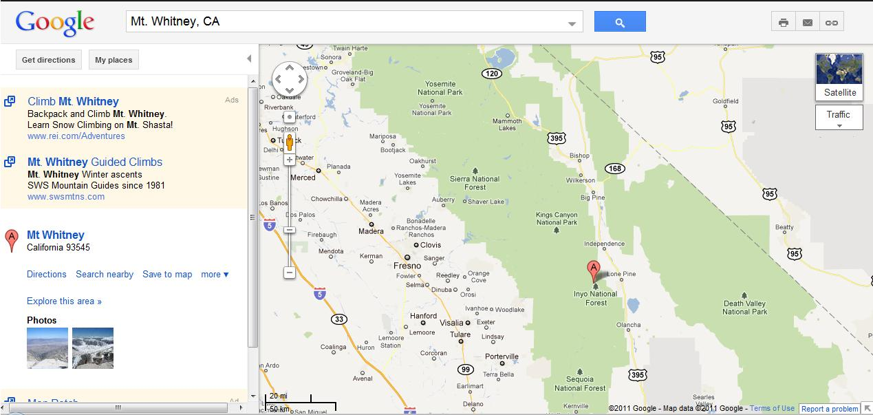 I Helped Google Move Mt Whitney Loyalty Traveler - Vilnius maps google