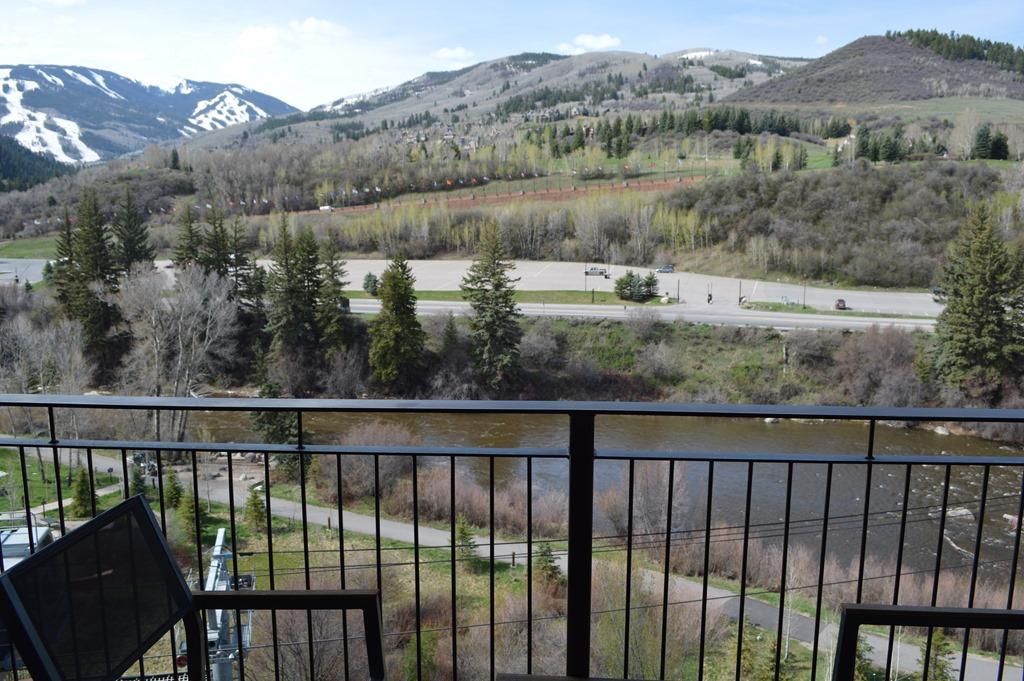 Patio View Of Beaver Creek Mountain Ski Area From Westin Riverfront, Avon.