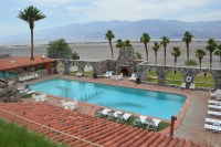 Deserted desert hotel at Furnace Creek Inn Death Valley ...