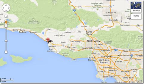 Google Maps Ventura
