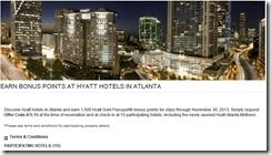 Hyatt Atlanta bonus