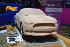 Ford clay modeling mustang