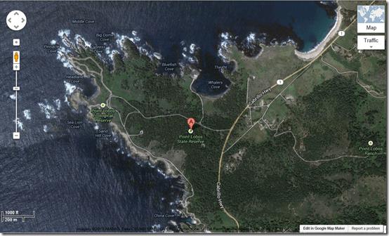 Point Lobos GoogleSat