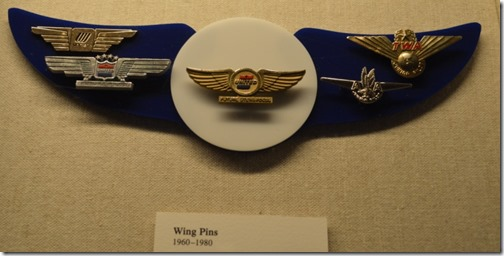 Airline wing pins