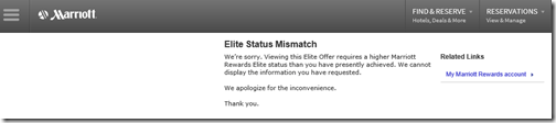 Marriott Elite Status Mismatch