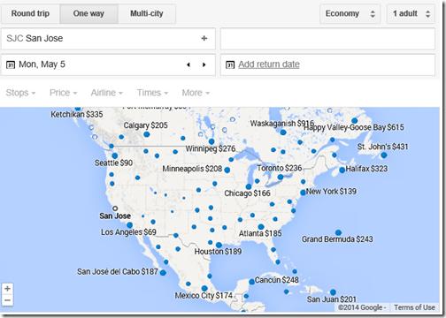 Google Maps SJC May 5