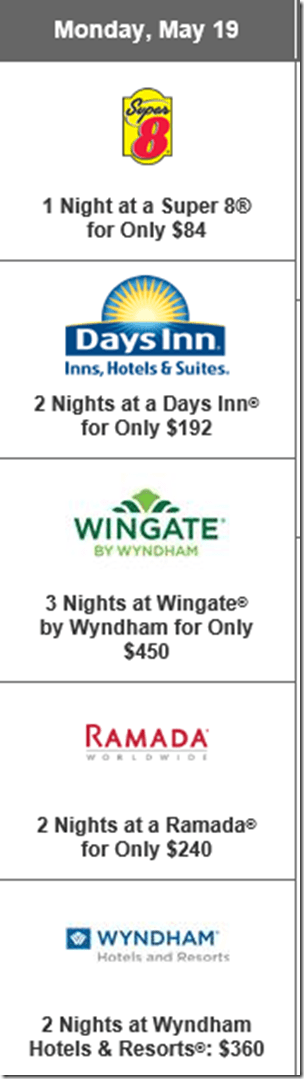 Daily Getaways Wyndham