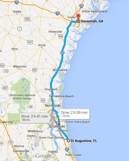 Road tripping Highway 17 St Augustine to Savannah Georgia – Tourist Map Of Savannah Ga