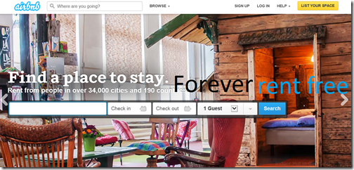Airbnb satire