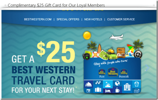 Best Western travel card email