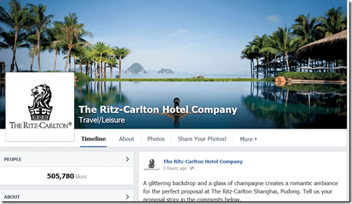 Facebook Ritz Carlton