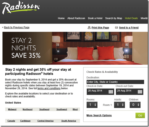 Radisson 2-for-35off