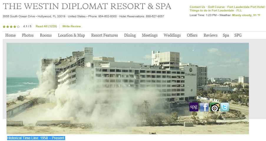 The Westin Diplomat Hotel Hollywood Florida
