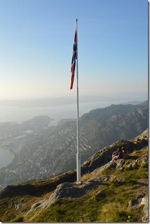 Norway flag on Ulriken