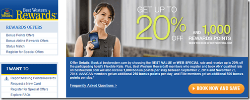 Best Western 1K bonus points sep-2-to-Nov-23-2014