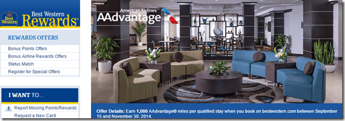 Best Western AA miles 9-15-to-Nov-30-2014