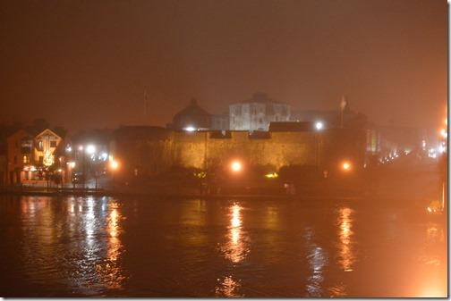Athlone Castle in fog