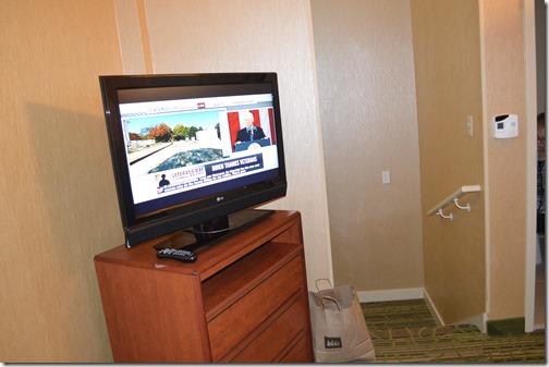 Hampton bedroom TV