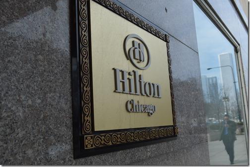Hilton Chicago sign