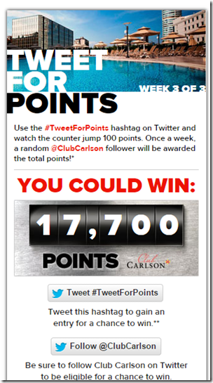 Club Carlson TweetforPoints