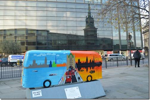 London bus sculpture