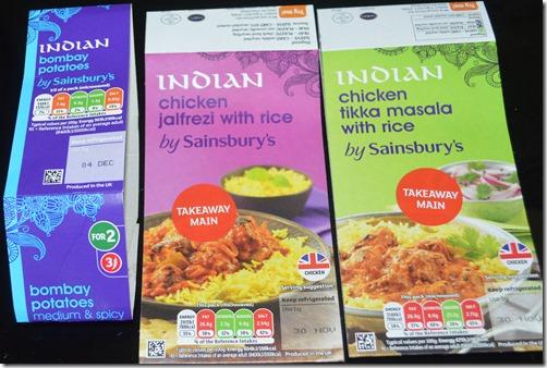 Sainsbury Indian food