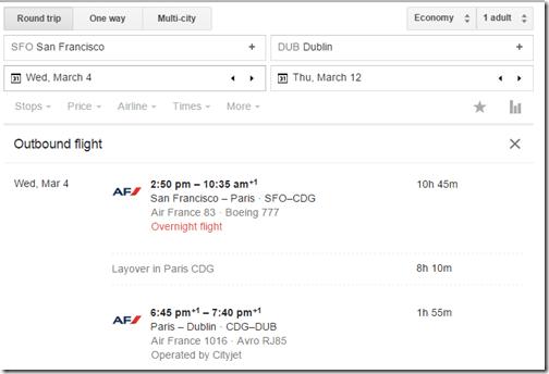Google Flights AF Paris 3-4-15