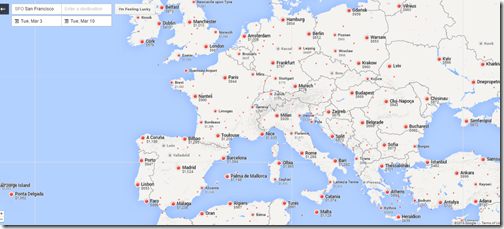 Google Flights SFO-Europe March 3-10-2015