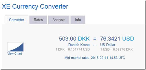 xe.com 503DKK