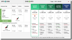 Emirates DXB-SFO