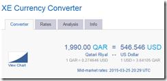 XE 1990 QAR-USD $546