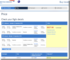 DFW-NBO BA $838 Sep 1-14