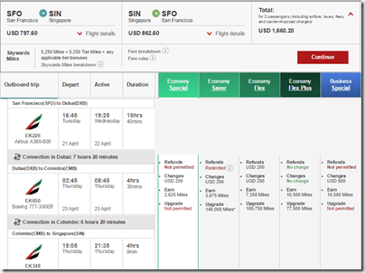 Emirates $1660 SFO-SIN Apri15