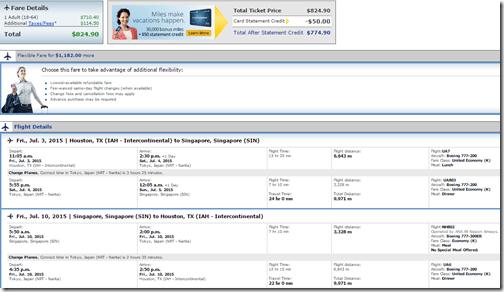 IAH-SIN United $825 Jul3-10