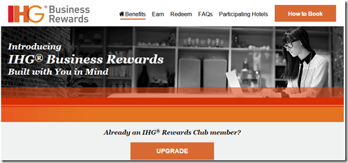 IHG Business Rewards launch