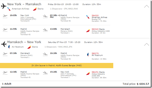 JFK-RAK $605 Iberia Oct15