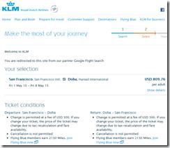 KLM SFO-DOH $810