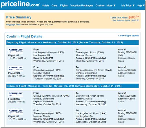 LAX-GVA Aeroflot $686 Oct15