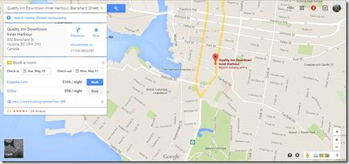 Quality Inn Victoria Google Maps