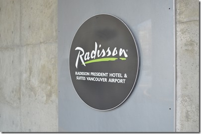 Radisson YVR sign