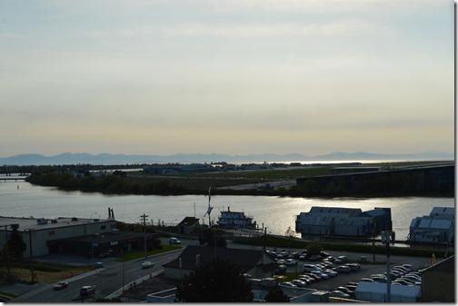Radisson YVR view at sunset
